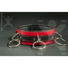 Classic DeLuxe Leather Collar with Rings