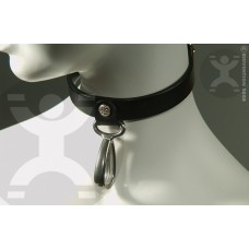 Hanging Teardrop Leather Collar