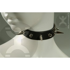 Leather Collar with Long and Short Spikes