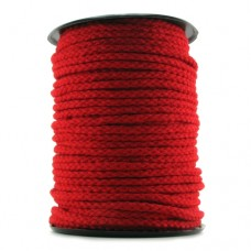 Braided Silk Bondage Rope 200 ft in Red