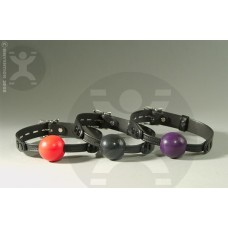 Silicone Ball Gag with Locking Leather Straps